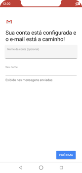 Como configurar seu celular para receber e enviar e-mails - Motorola One - Passo 11