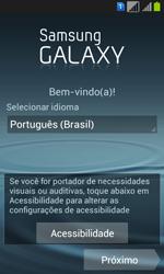 Como configurar pela primeira vez - Samsung Galaxy Win - Passo 3