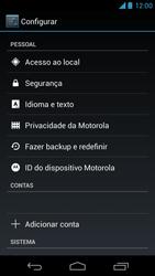 Como restaurar as configurações originais do seu aparelho - Motorola Moto X (1ª Geração) - Passo 4
