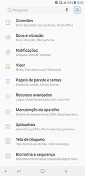 Como selecionar o tipo de rede adequada - Samsung Galaxy J8 - Passo 3