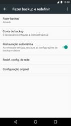 Como restaurar as configurações originais do seu aparelho - LG Google Nexus 5X - Passo 5