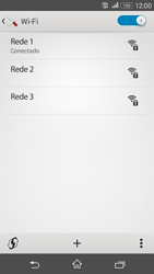Como configurar uma rede Wi-Fi - Sony Xperia E4G - Passo 7