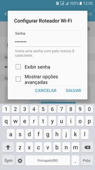 Como usar seu aparelho como um roteador de rede Wi-Fi - Samsung Galaxy On 7 - Passo 8