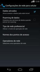 Como ativar e desativar uma rede de dados - Motorola Moto E (1ª Geração) - Passo 5
