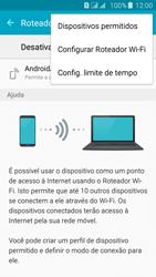 Como usar seu aparelho como um roteador de rede Wi-Fi - Samsung Galaxy J5 - Passo 6