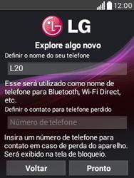 Como configurar pela primeira vez - LG L20 - Passo 11