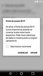 Como usar seu aparelho como um roteador de rede Wi-Fi - LG X Power - Passo 8
