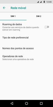 Como ativar e desativar o roaming de dados - Motorola Moto G6 Play - Passo 7