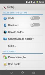 Como configurar uma rede Wi-Fi - Sony Xperia E1 - Passo 3