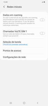 Como ativar e desativar o roaming de dados - Samsung Galaxy S20 Plus 5G - Passo 5