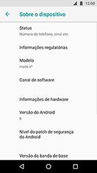 Como encontrar o número de IMEI do seu aparelho - Motorola Moto X4 - Passo 4