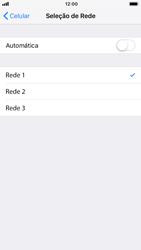 Como selecionar o tipo de rede adequada - Apple iPhone 7 - Passo 6