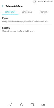 Como encontrar o número de IMEI do seu aparelho - LG K12+ - Passo 4