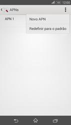 Como configurar a internet do seu aparelho (APN) - Sony Xperia E4G - Passo 8