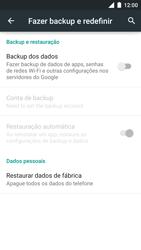Como restaurar as configurações originais do seu aparelho - Motorola Moto Turbo - Passo 5