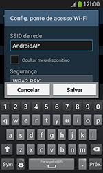 Como usar seu aparelho como um roteador de rede Wi-Fi - Samsung Galaxy Grand Neo - Passo 7