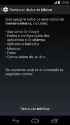 Como restaurar as configurações originais do seu aparelho - Motorola Moto G (1ª Geração) - Passo 6