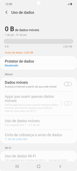 Como ativar e desativar uma rede de dados - Samsung Galaxy Note 20 5G - Passo 6