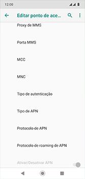 Como configurar a internet do seu aparelho (APN) - Motorola Moto G7 - Passo 12