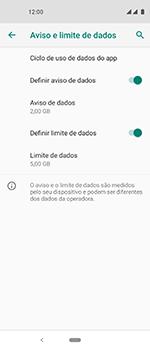 Como definir um aviso e limite de uso de dados - Motorola One Vision - Passo 12