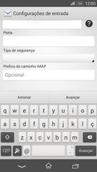 Como configurar seu celular para receber e enviar e-mails - Sony Xperia E4G - Passo 9