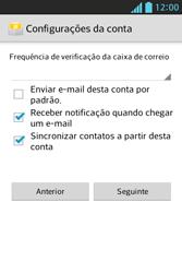 Como configurar seu celular para receber e enviar e-mails - LG Optimus L5 - Passo 18