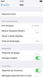 Como configurar seu celular para receber e enviar e-mails - Apple iPhone 6 - Passo 4