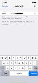Como usar seu aparelho como um roteador de rede Wi-Fi - Apple iPhone XR - Passo 4