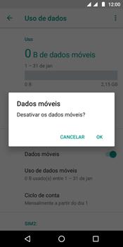 Como ativar e desativar uma rede de dados - Motorola Moto E5 - Passo 6