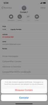 Como bloquear chamadas de um número específico - Apple iPhone XR - Passo 6