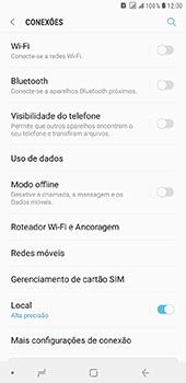 Como selecionar o tipo de rede adequada - Samsung Galaxy J8 - Passo 4