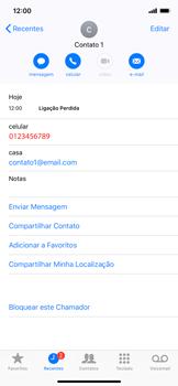 Como bloquear chamadas de um número específico - Apple iPhone XR - Passo 5