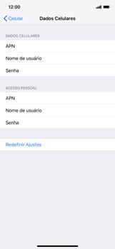 Como configurar a internet do seu aparelho (APN) - Apple iPhone XR - Passo 5