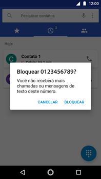 Como bloquear chamadas de um número específico - Motorola Moto G5s Plus - Passo 6
