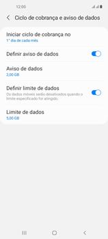 Como definir um aviso e limite de uso de dados - Samsung Galaxy A21s - Passo 12