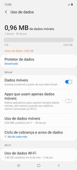 Como definir um aviso e limite de uso de dados - Samsung Galaxy A51 - Passo 5