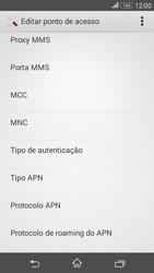 Como configurar a internet do seu aparelho (APN) - Sony Xperia E4G - Passo 11