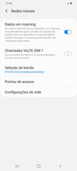 Como ativar e desativar o roaming de dados - Samsung Galaxy S20 Plus 5G - Passo 6