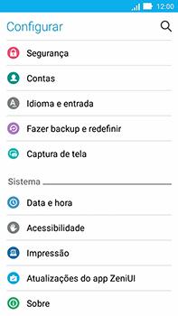 Como encontrar o número de IMEI do seu aparelho - Asus ZenFone Go - Passo 3