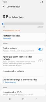 Como definir um aviso e limite de uso de dados - Samsung Galaxy S20 Plus 5G - Passo 5