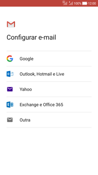 Como configurar seu celular para receber e enviar e-mails - Asus Zenfone Selfie - Passo 8