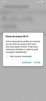 Como usar seu aparelho como um roteador de rede Wi-Fi - LG K40S - Passo 9