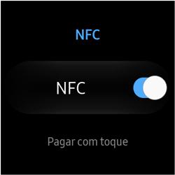Como ativar a função NFC no Galaxy Watch - Samsung Galaxy Watch 3 - Passo 6