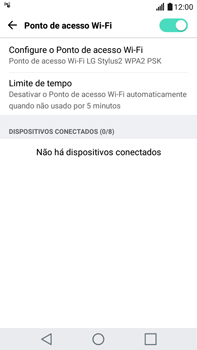 Como usar seu aparelho como um roteador de rede Wi-Fi - LG G5 Stylus - Passo 9