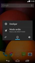 Como reiniciar o aparelho - Motorola Moto E (1ª Geração) - Passo 3