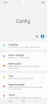 Como ativar e desativar o roaming de dados - Samsung Galaxy Note 20 5G - Passo 3