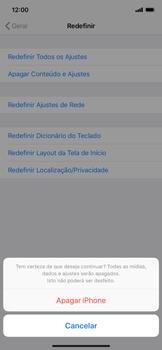 Como restaurar as configurações originais do seu aparelho - Apple iPhone XR - Passo 7