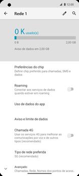 Como definir um aviso e limite de uso de dados - Motorola Edge - Passo 5