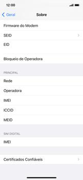 Como encontrar o número de IMEI do seu aparelho - Apple iPhone 11 Pro - Passo 4