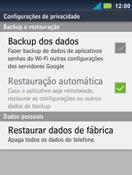 Como restaurar as configurações originais do seu aparelho - Motorola Master - Passo 5